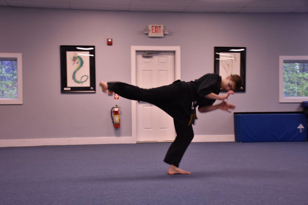 Student at Neil Stone's Karate Academy