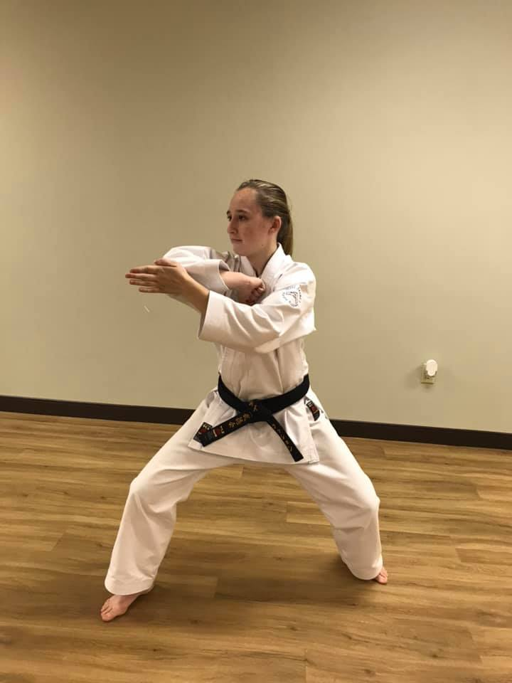 Student showing Karate Pose at Neil Stone's Karate Academy