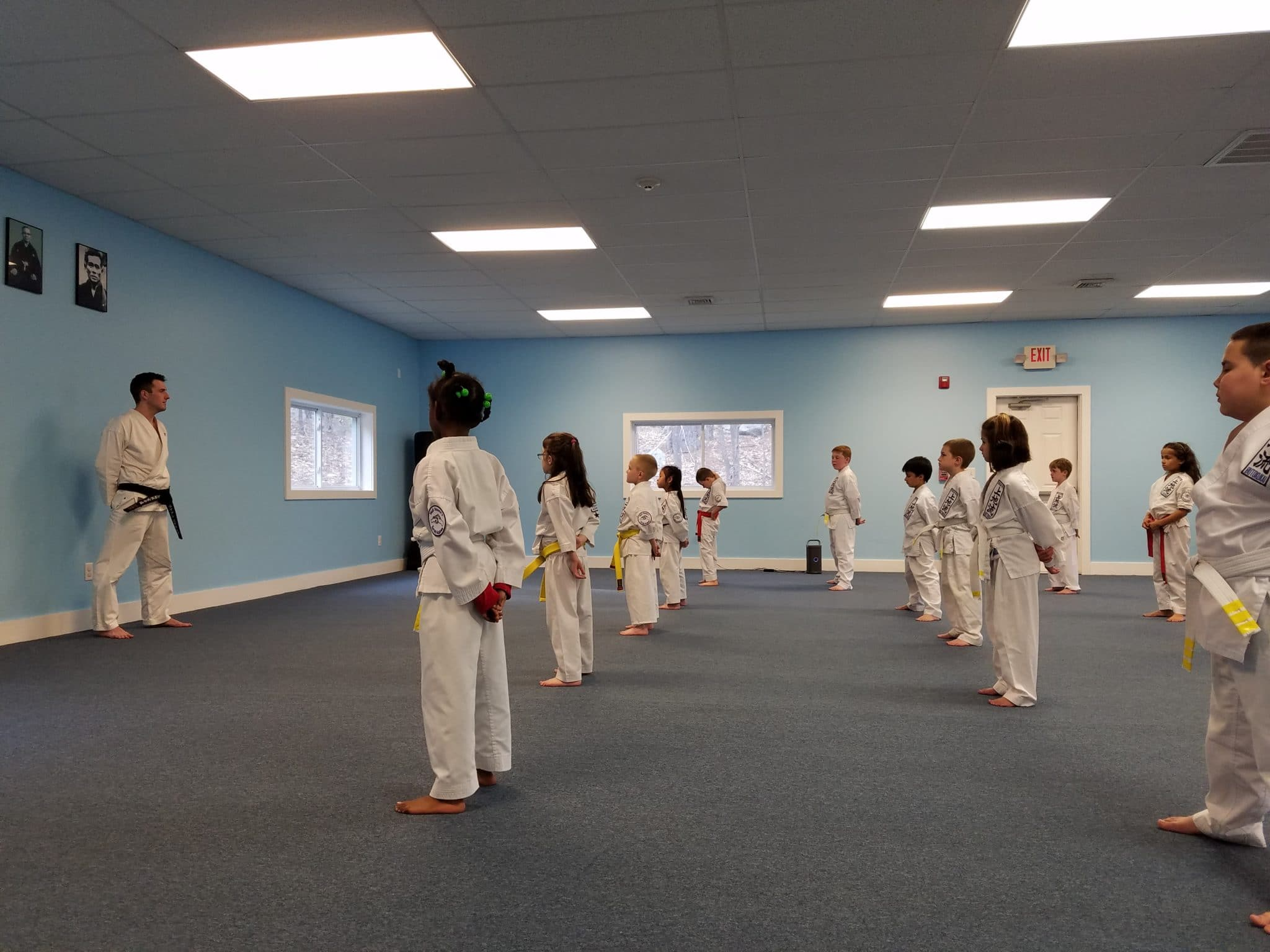 Instructor Brian Edmonds Leading a Class at Neil Stone's Karate Academy