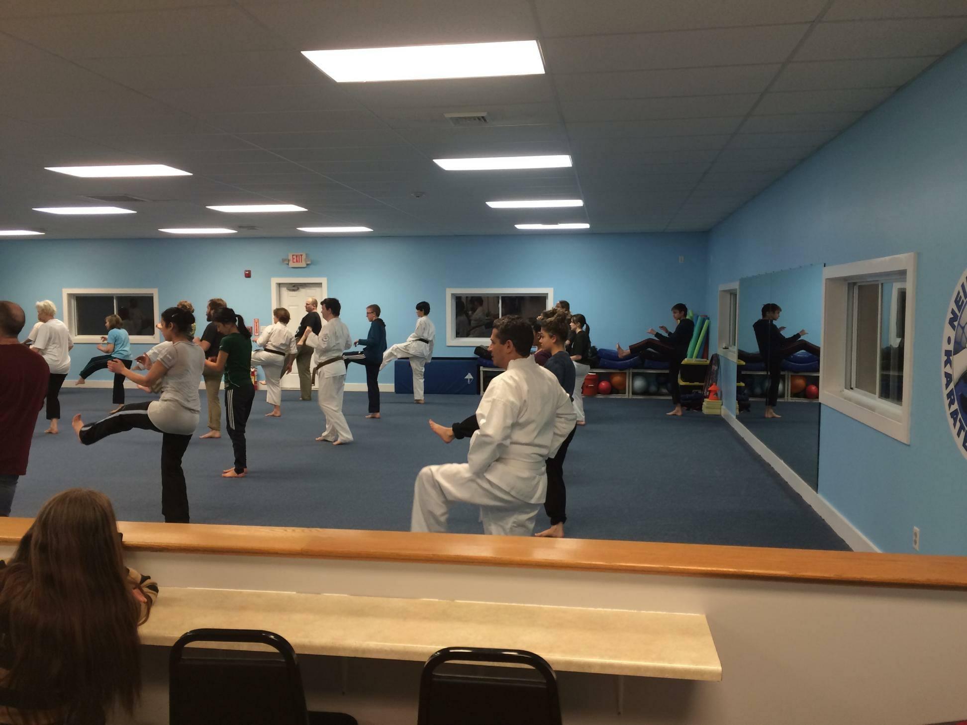 Classroom at Neil Stone's Karate Academy
