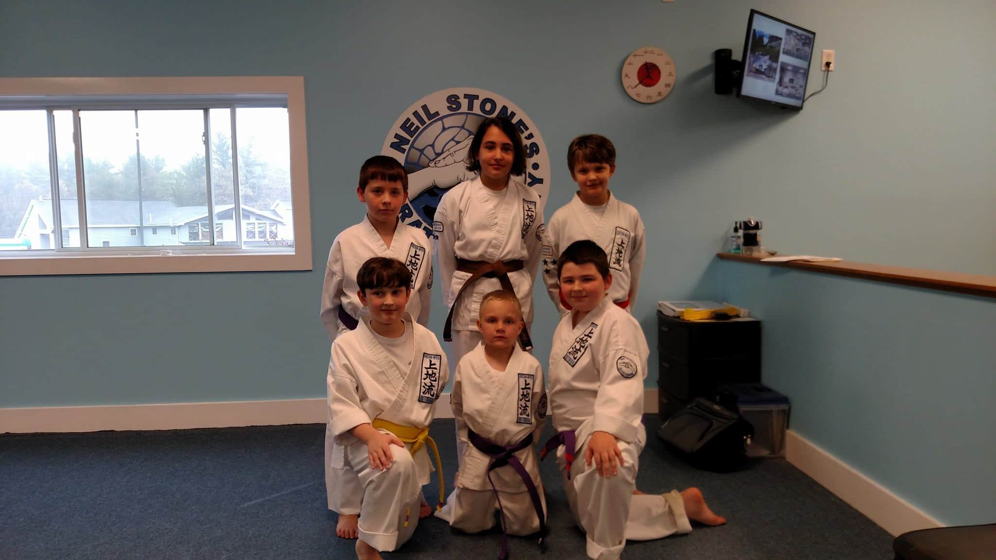 Group of Kids at Neil Stone's Karate Academy
