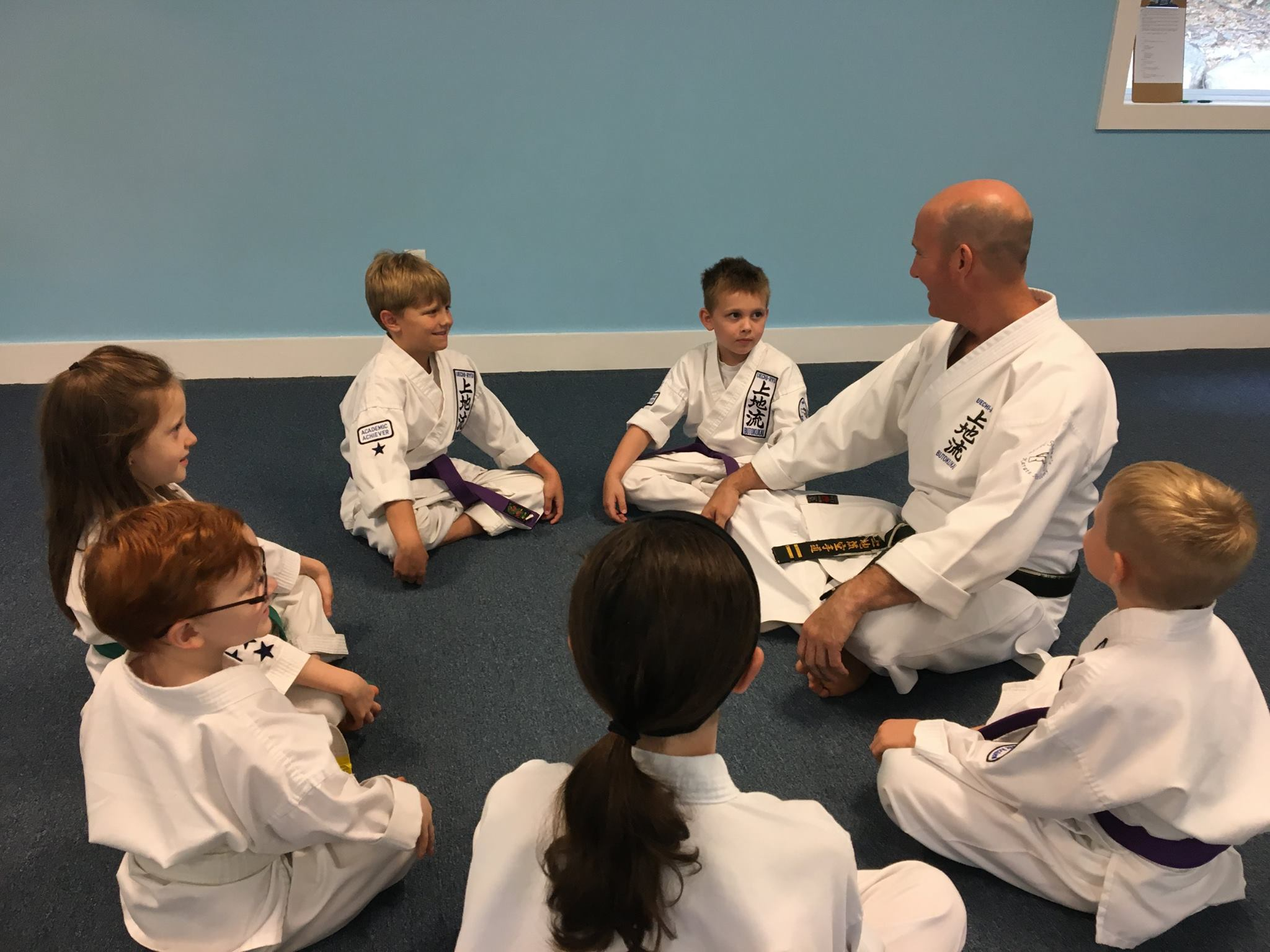 Sensei Neil Stone Instructing Students