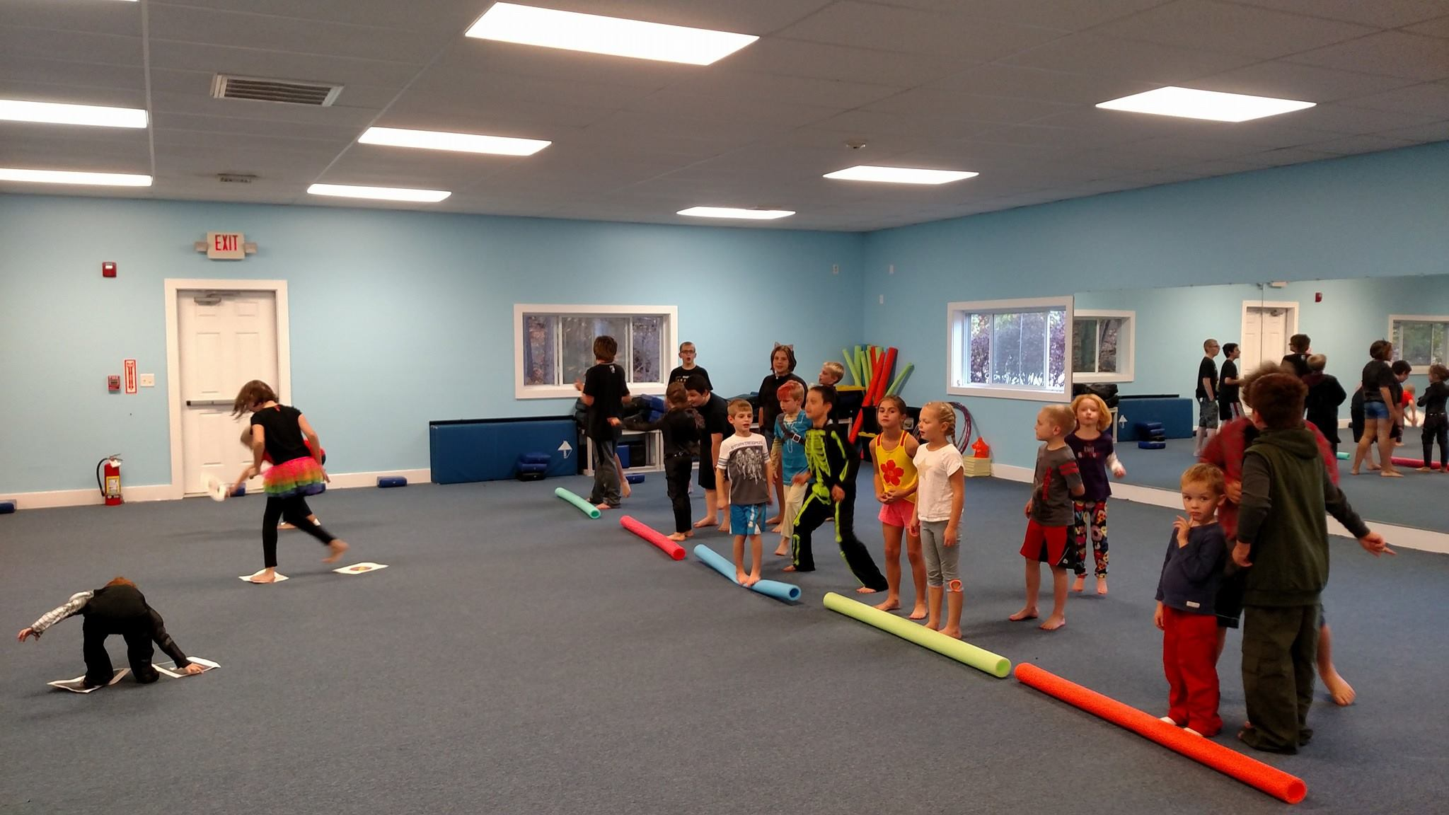 Students playing a fun game at Neil Stone's Karate Academy
