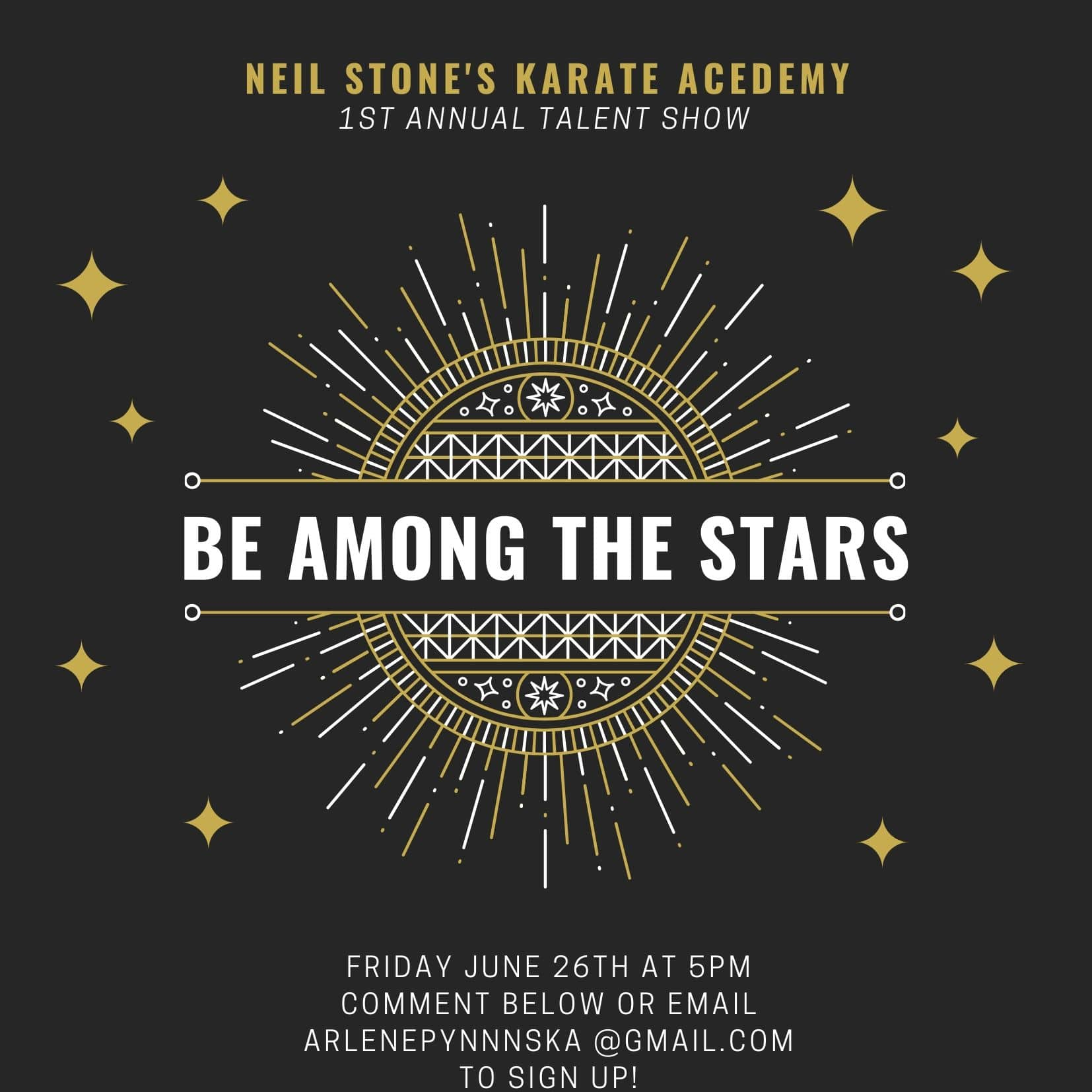 Neil Stone's Karate Academy First Annual Talent Show