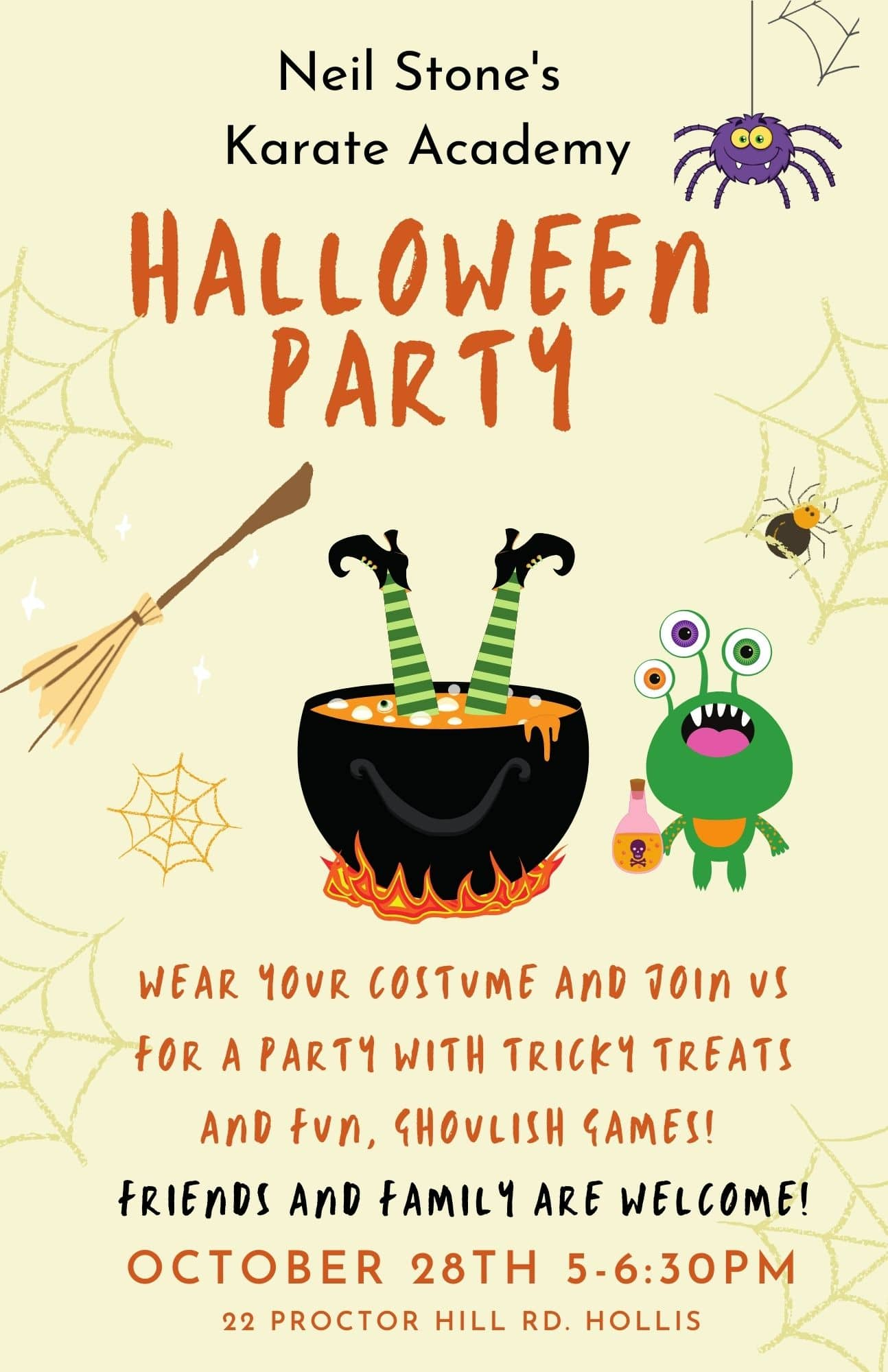 Halloween Party – October 28th